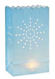 "10"" Sunburst Luminary Bag - Light Blue (4 Count)"