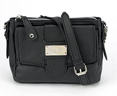 Nine West Courier Small Crossbody (Black)