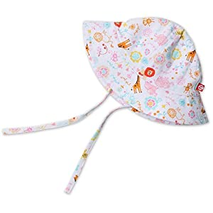 Zutano Jungle Dream Sun Hat - White- 18 Months