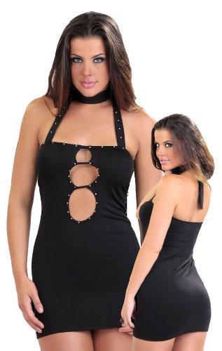 Bang! Halter Dress with Rhinestones Clubwear