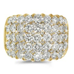 CleverEve's Diamond Cocktail Ring in 18k Yellow Gold size 12