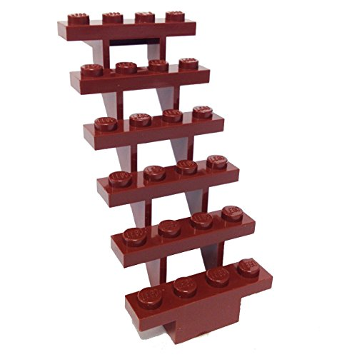 Lego Parts: Stairs 7 x 4 x 6 Straight Open (Reddish Brown) - 1