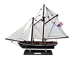 Handcrafted Nautical Decor America Sailboat, 16