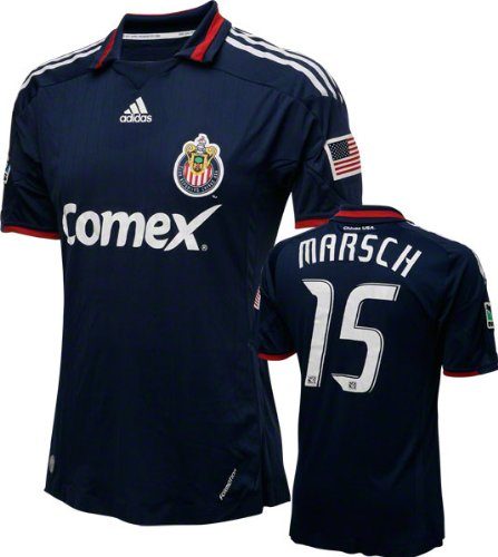 Jesse Marsch Game Used Jersey: Club Deportiva Chivas USA #15 Short Sleeve Away Jersey