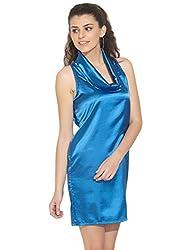 Remanika Women's Silk Cardigans (LB-BFOSTER_Light Blue_L)