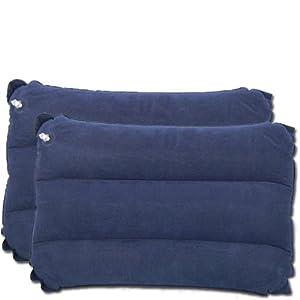 trixes 2 x blaue aufblasbare kissen f r camping und reisen. Black Bedroom Furniture Sets. Home Design Ideas