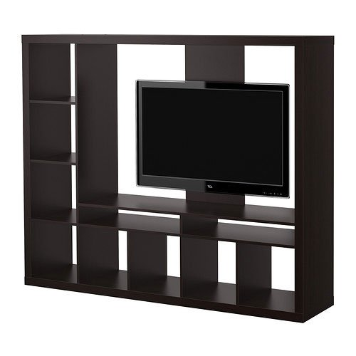 ikea expedit entertainment center tv stand up to 55 flat