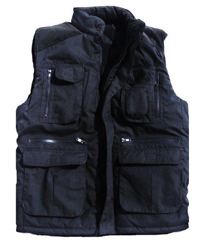 Mens Large Blue Padded Bodywarmer 14 Pocket Heavy Duty Jacket