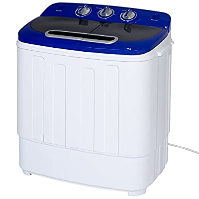 Best Choice Products Portable Compact Mini Twin Tub Washing Machine and Spin Cycle Dryer w/ Hose