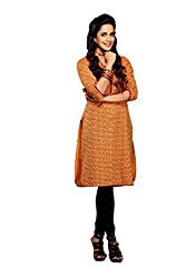 Maybell Women's Kurta (K7140115_Rust_Large)