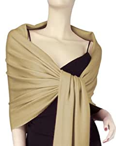 Amazon.com: NEW Solid Silk Pashmina Shawl Wrap Stole Cashmere Scarf