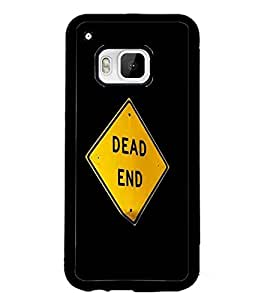 PrintDhaba Dead End Sign Board D-2247 Back Case Cover for HTC ONE M9S (Multi-Coloured)