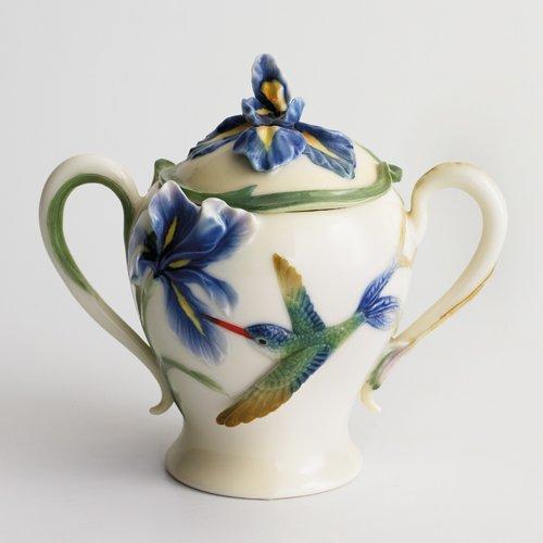 Franz Porcelain Long Tail Hummingbird Sugar