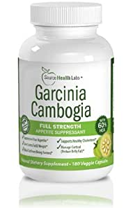 Garcinia Cambogia Extract Pure Appetite Suppressant With Potassium & Calcium - 3000mg of Clinically-Proven, Multi-Patented 60% HCA Extract Per Day (Three Daily Servings of 1000mg) That Works for Weight Loss - 180 Capsules Per Bottle for a Full 30-Day Supply