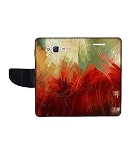 KolorEdge Printed Flip Cover For Samsung Galaxy J2 Multicolor - (1477-47KeMLogo12348SamJ2)