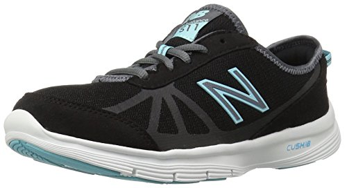 New Balance Women's WW511BB1 Walking Shoe, Black/Light Blue, 9.5 B US