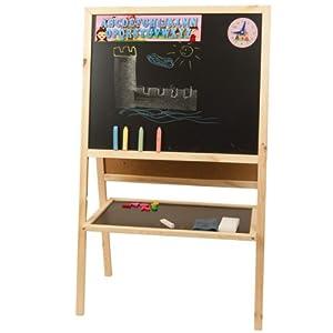 magnet kindertafel schreibtafel maltafel holz tafel standtafel holzstaffelei spielzeug. Black Bedroom Furniture Sets. Home Design Ideas