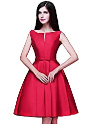 Mori Lady Women's Bridesmaid A-line Evening Gown Party Dress