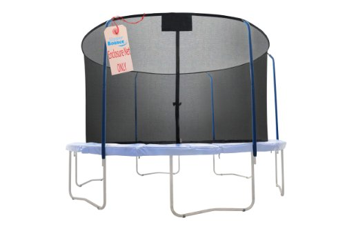 Trampoline-Replacement-Net-For-Bazoongi-Trampoline-Model-s-BZJP1514C-and-BZJP1506-or-15-Round-Frames-Using-5-Curved-Poles-With-Top-and-Bottom-Ring-Enclosure-System-NET-ONLY