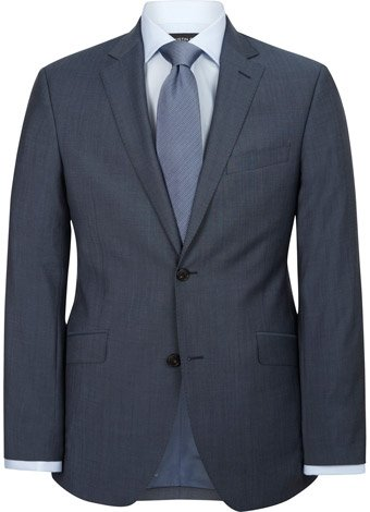 Austin Reed Contemporary Fit Blue Pindot Suit Jacket REGULAR MENS 46