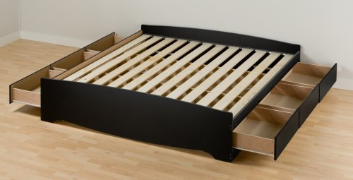 Prepac Sonoma King Platform Storage Bed, Black