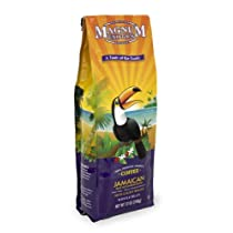 Magnum Coffee Taste of the Exotics Whole Bean Coffee Jamaican Blue Mountain Blend 12 Ounce