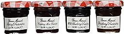 Bonne Maman Mixed (Strawberry, Cherry, Raspberry & Blueberry) Preserve Mini Jars - 1 oz x 60 pcs (4 - 15 Packs) Kosher