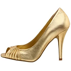 Endless.com: Nine West Women's Lilyallen Peep Toe Pump: Categories - Free Overnight Shipping & Return Shipping :  pumps nine west heels gold shoes
