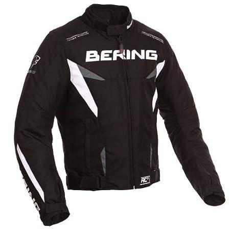 Bering - Blouson moto - Bering FIZIO Noir/Blanc
