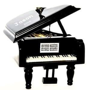 Amazon.com - Personalized Grand Piano Christmas Ornament ...