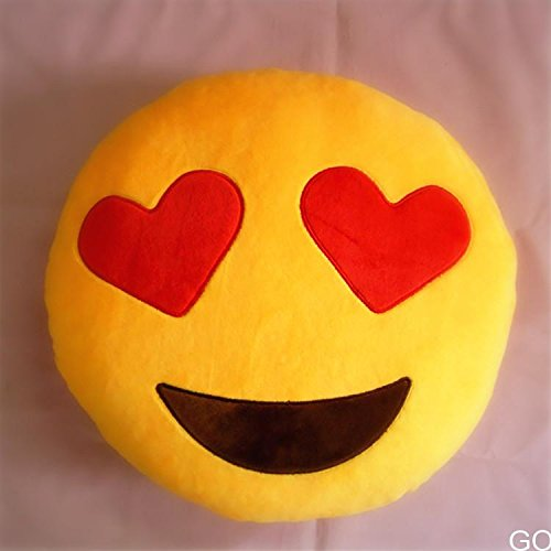 Big Save! Cool88 Soft Emoji Smiley Emoticon Yellow Round Cushion Pillow Stuffed Plush Toy Doll (Patt...