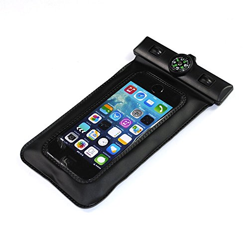 Pioneer Tech® Portable Compass Underwater Waterproof Bag Pouch Case Cover For Iphone 4S 5 5S 5G (Fsw-Black)