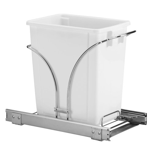 Household Essentials Under Cabinet Single Sliding Trash Can Caddy, 5-Gallon (Under Cabinet Garbage Can compare prices)