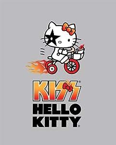 Hello Kitty Fleece Fabric:Biker KISS by Sanrio (Anti-Pill, By the Yard)