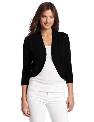 Chaus Women's Ribbed Trim Shrug