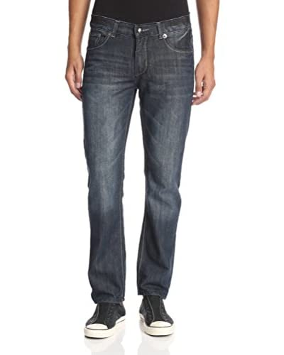 Blue Rag Denim Men's Acid Washed Slim Straight Jeans