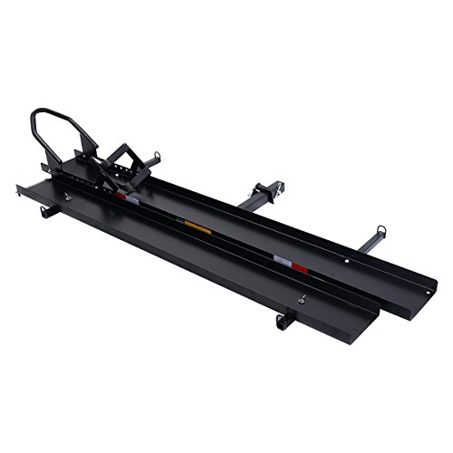 Goplus® 600 LBS Heavy Duty Motorcycle Sport Bike Hitch Carrier Hauler Rack with Loading Ramp (Motorcycle Trailer compare prices)