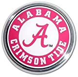 Alabama Crimson Tide Metal Auto Emblem with Colored Team Seal Logo at Amazon.com