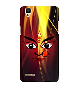 Durge Maa 3D Hard Polycarbonate Designer Back Case Cover for Oppo F1