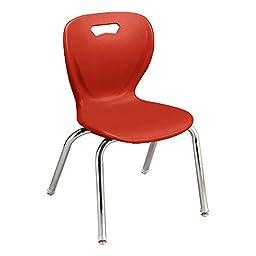 Learniture LNT-INM3016RD-SO Shape Series School Chair, 16\