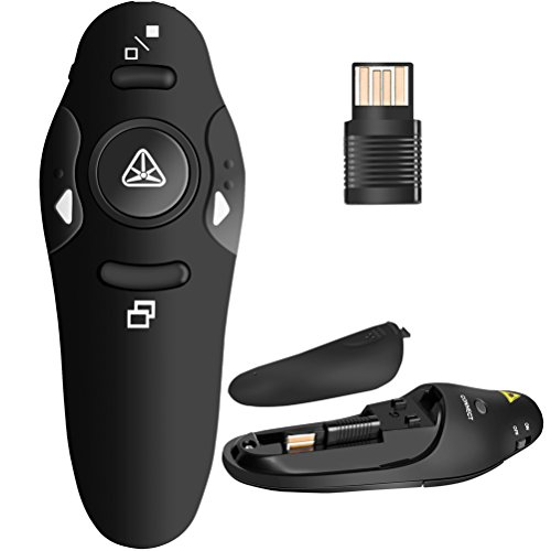 BEBONCOOL RF 2.4GHz Wireless Presenter Remote Presentation USB Control PowerPoint...