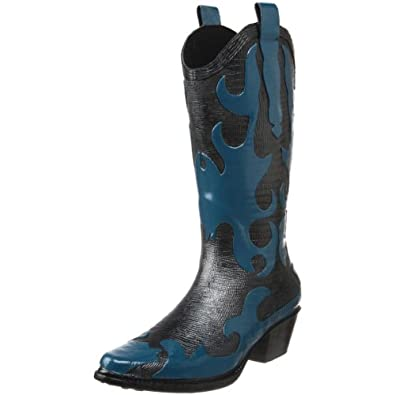 dav Women's Western Cowboy Firewater Boot,Turquoise,6 M US