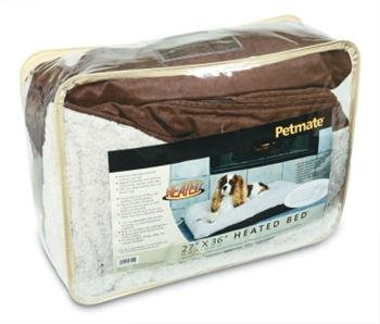 Dog Supplies Petmate Heated Bed Dark Brown