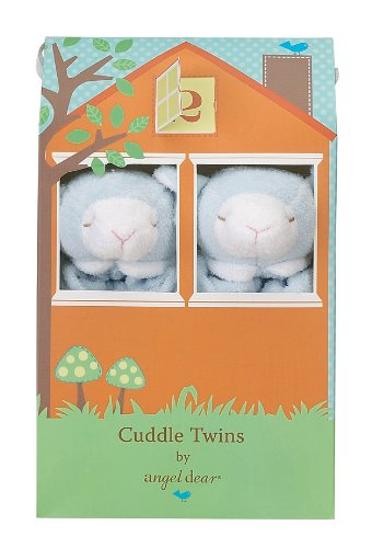 Angel Dear Cuddle Twin Set, Blue Lamb