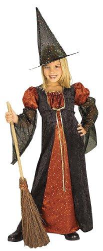 Halloween Concepts Child's Orange Glitter Witch Costume, Small