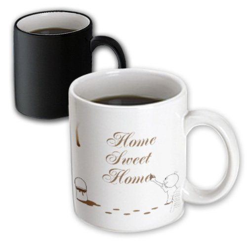 Mug_57509_3 Inspirationzstore Drip Guy - Cute Drip Guy Writing Home Sweet Home With Coffee Or Chocolate Paint - Fun Fake Stain Unique Gift - Mugs - 11Oz Magic Transforming Mug
