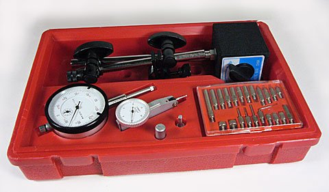 Dial Indicator With Magnetic Base with 22 Point Set 0-1/'/' Range