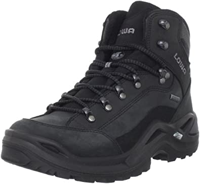 Lowa Men's Renegade GTX Mid Hiking Boot,Black/Black,7.5 N US