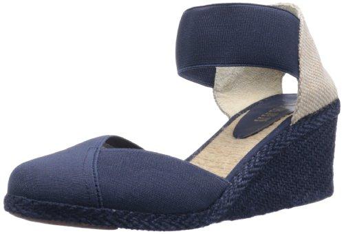 Lauren Ralph Lauren Women'S Charla Wedge Sandal,Mid Navy,8 B Us