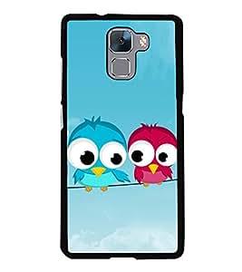 Peeping Owl 2D Hard Polycarbonate Designer Back Case Cover for Huawei Honor 7 :: Huawei Honor 7 Enhanced Edition :: Huawei Honor 7 Dual SIM